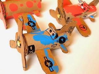 Cara Membuat Pesawat Mainan Dari Kertas Kardus Bekas