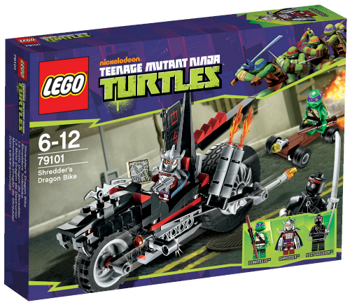 Spectacular Kick up the turtle powered action to take on Shredder When Shredder speeds by on his Dragon Bike withdual flame exhausts and real rubber tires