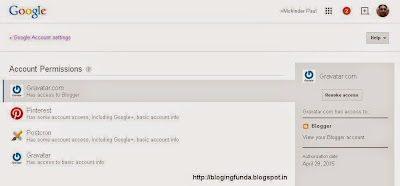 Giving or Revoking Third Party Access from your Google Plus Permission page - BloggingFunda