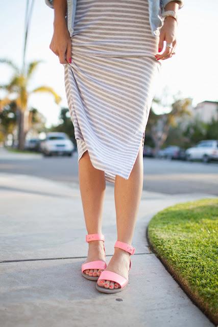 Merrick's Art | Midi Dress and Neon Sandals