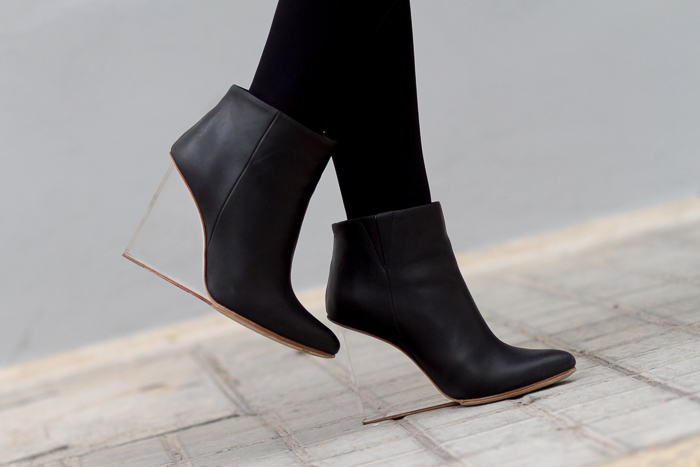 Black Ankle Boots MMM for H&M methacrylate heels
