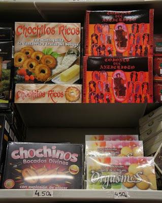 """""""Chochitos Ricos"""", """"Cojones del Anticristo"""", """"Chochinos, bocado divino"""" y """"Orgasmos"""""""