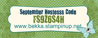 Buy Stampin' Up! On Line at www.bekka.stampinup.net  Use this code to enter a special prize draw in September