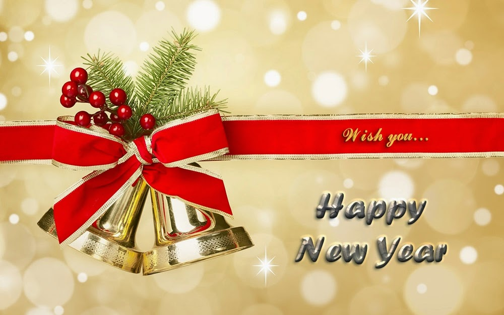 Christmas Bell Happy New Year Wishes 2015 Card Images