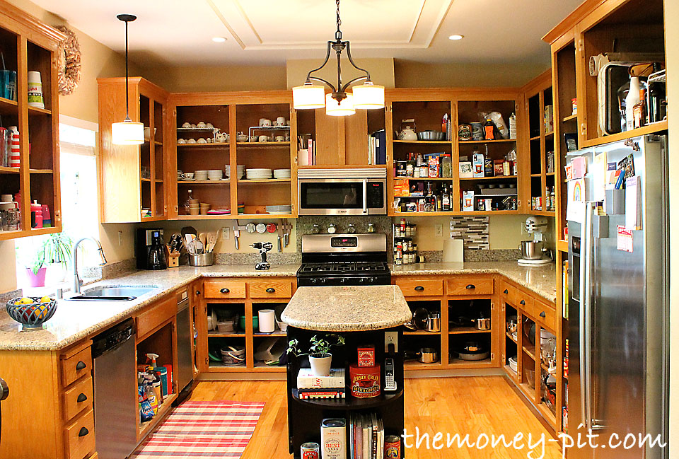 marvelous What To Put In Kitchen Cabinets #5: How To Paint Your Kitchen Cabinets Without Losing Your Mind