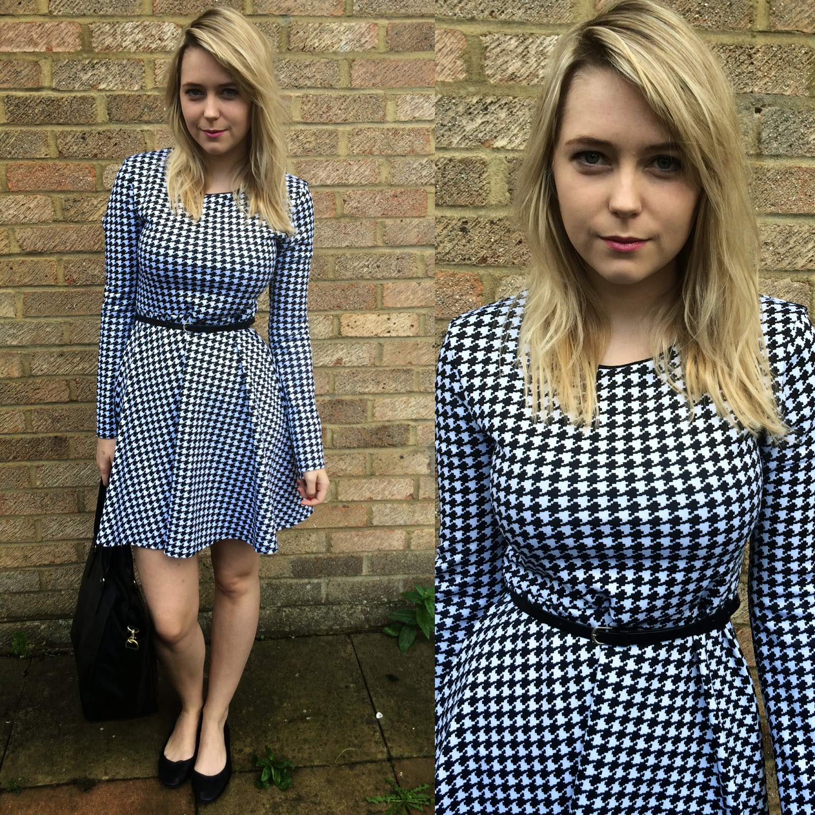 Dogtooth outfit post on laurarebeccasmith fashion blog