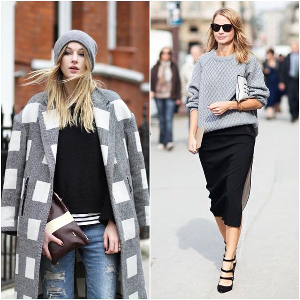 Tendência Inverno 2014: Cinza Looks Trend Gray