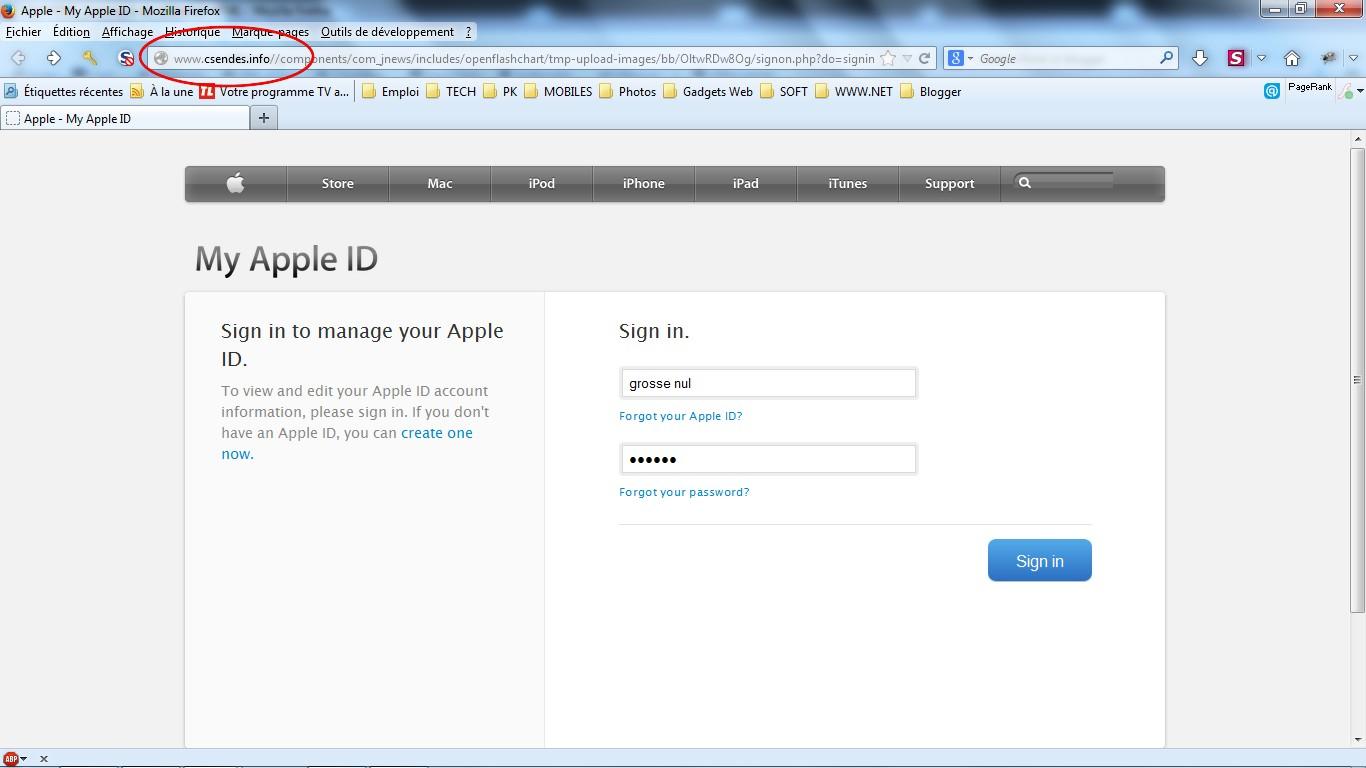 Phishing en cours sur iTunes