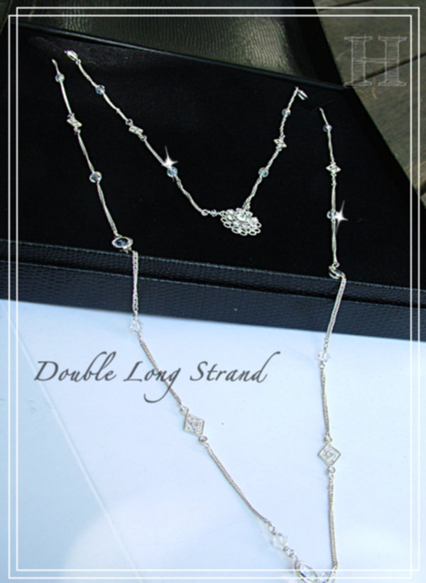Long Strand Necklace - Swarovski Simple Elegance