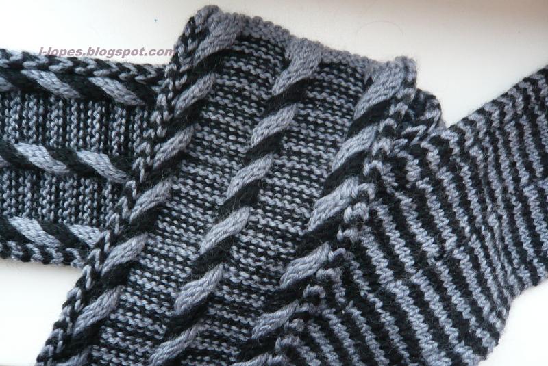 Мужской шарф с двухцветным