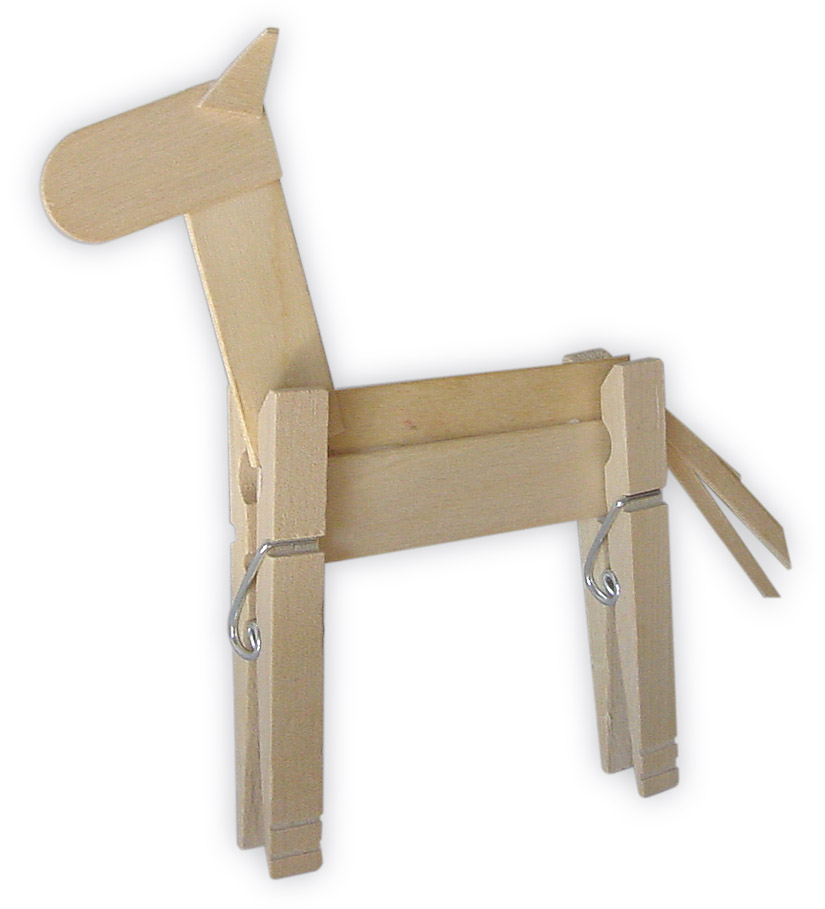 Clothespin Horse Craft for Kids