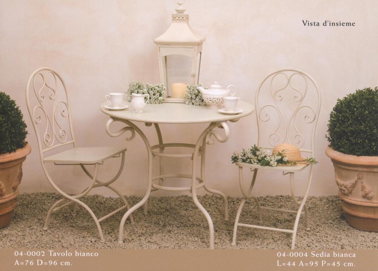 Creativipedia un tocco di bianco qua e l - Tavolo ferro battuto giardino ...
