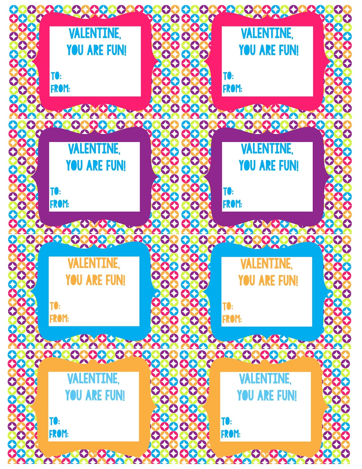 the larson lingo valentine you are fun free valentine printable