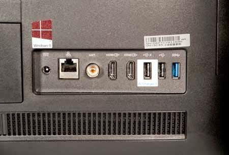 порты на задней части моноблока ASUS ET2311
