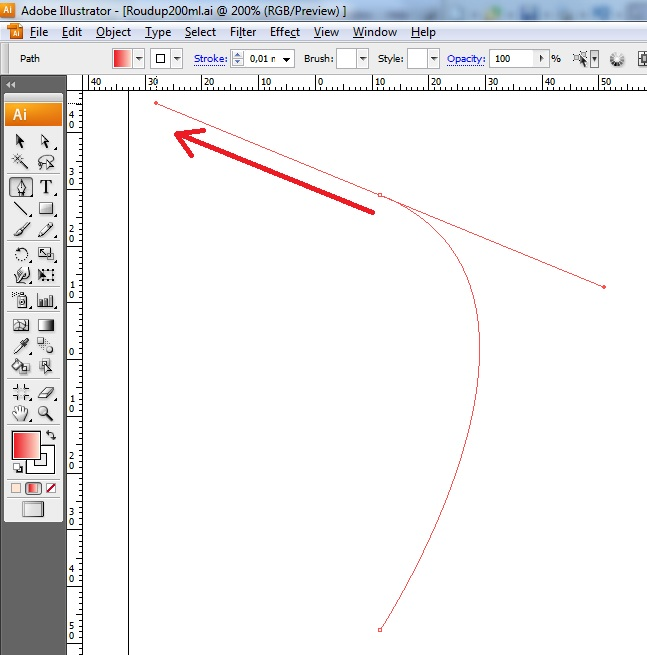 illustrator how to connect two anchor points