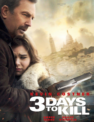 Poster Of Hollywood Film 3 Days to Kill (2014) In 300MB Compressed Size PC Movie Free Download At worldfree4u.com