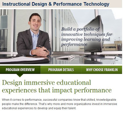 New Webe page for MS Degree in Instructional Design and Performance Technology.