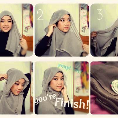 tutorial Hijab Modern Jilbab Segi Empat