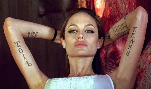 Angelina Jolie Arm Tattoo