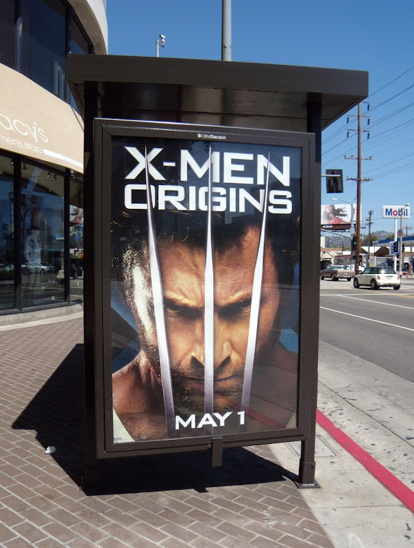 X-Men Origins Wolverine bus shelter poster