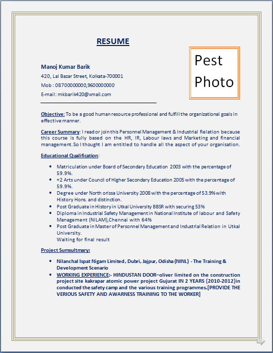 resume blog co  resume sample  post graduate in master of