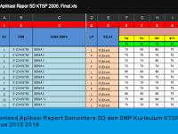 Berkas Sekolah Excel - Download Aplikasi Raport Sementara SD dan SMP Kurikulum KTSP Tahun 2015 2016