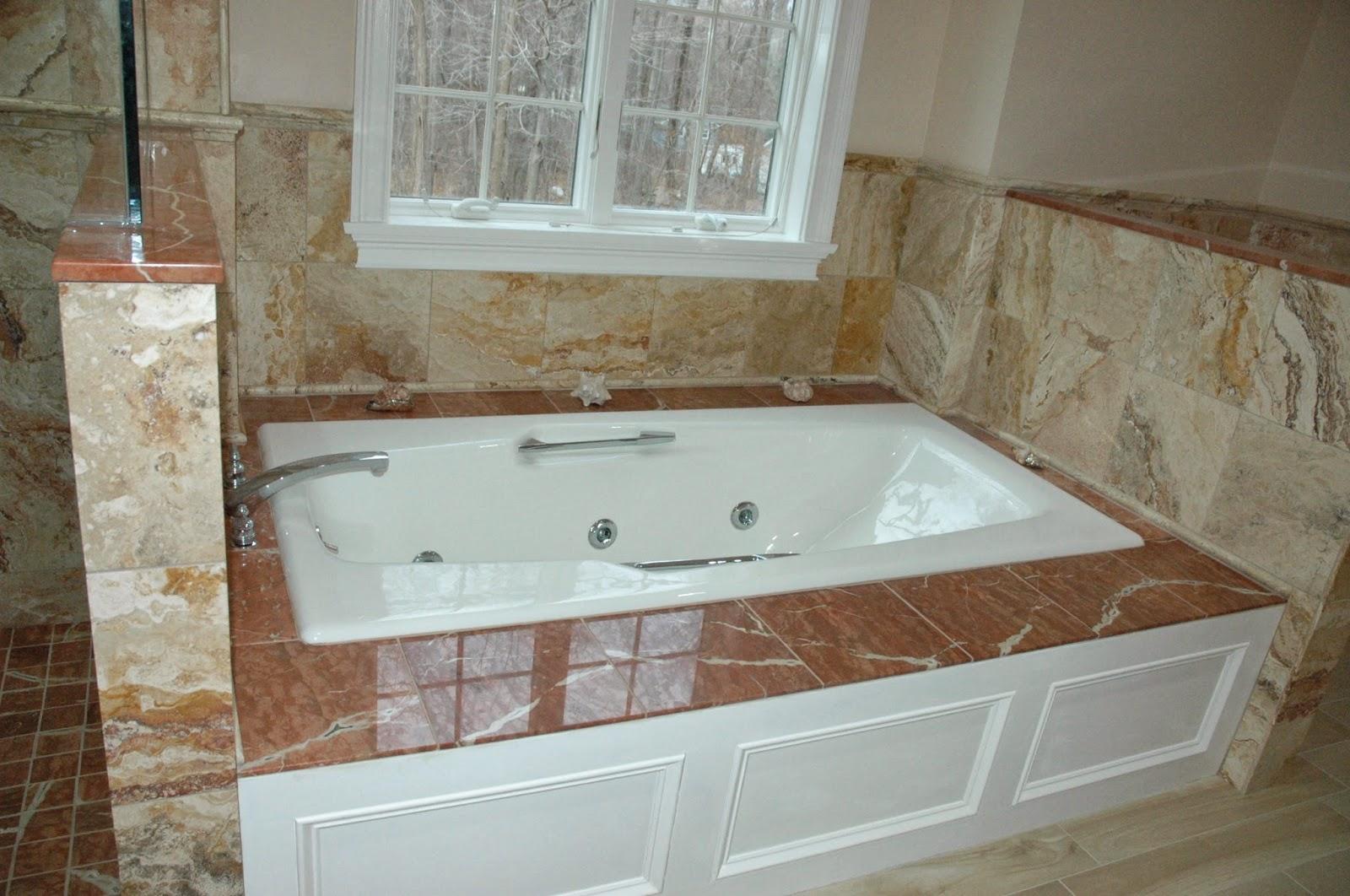 Custom bathroom remodeling 12x12 travertinetile for Bathrooms b q installation
