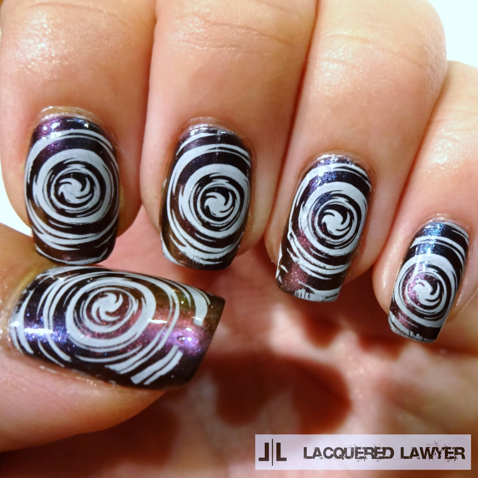 Chrome nail stamping