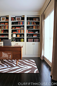 built in floor to ceiling bookcases