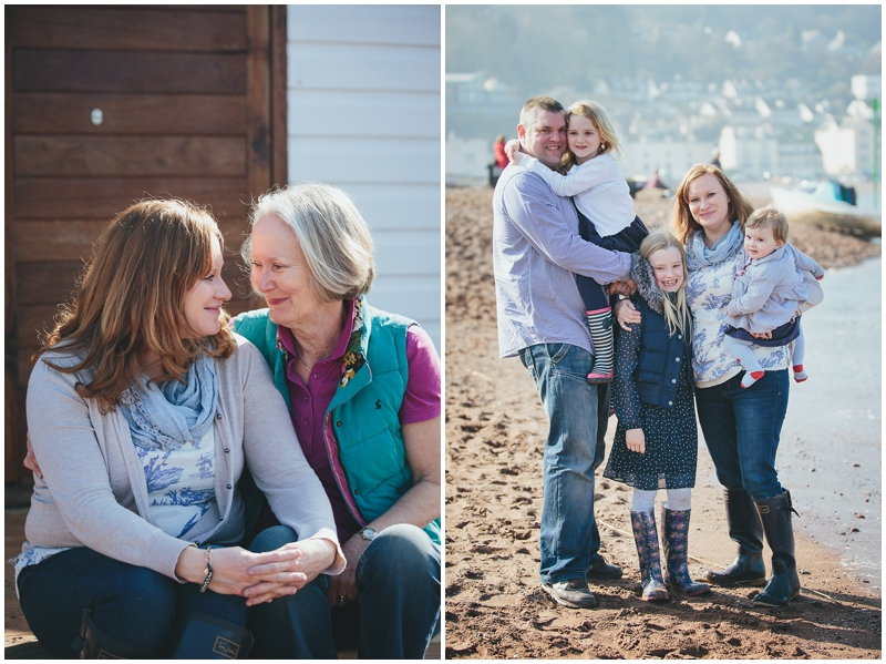Family photography on the beach in Devon
