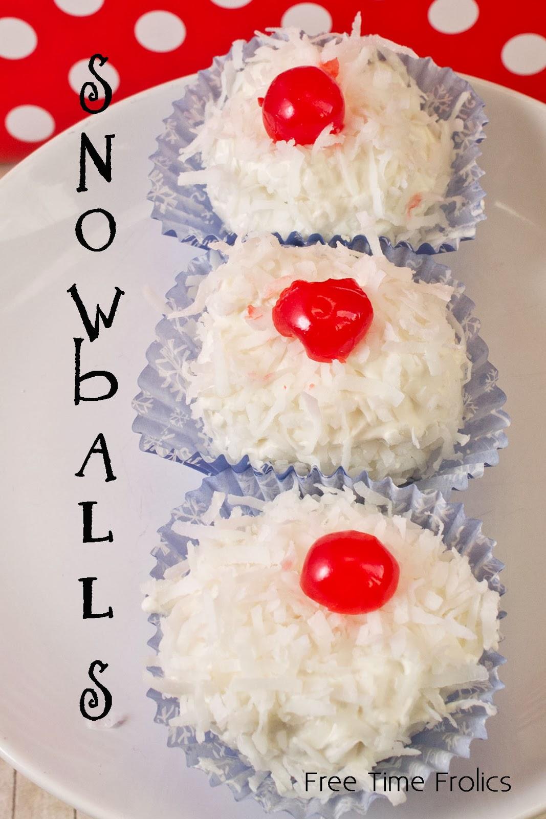 snowball dessert via www.freetimefrolics.com #recipe #dessert