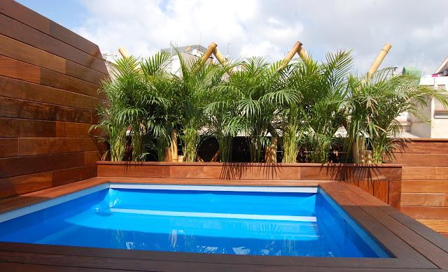 Terraza con piscina guia de jardin for Piscinas pequenas para jardin