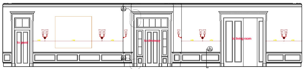 This Is Elevation From Glenn Keyes Office Showing One Guest Room Wall The Door To Driveway And Living I Kept Staring At Until