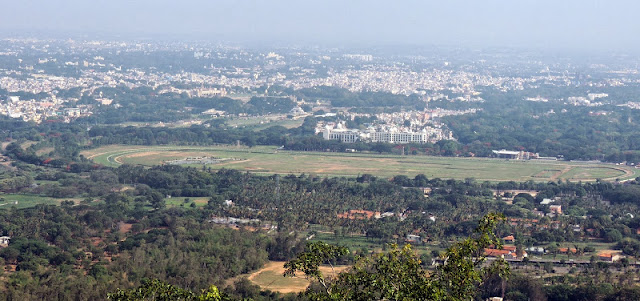 View from Chamundeshwari Temple Mysore