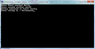C program to concatenate two string without using strcat function.</b></div> <br /> <div class=