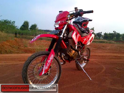 Motor Plus Modifikasi Suzuki Satria 2 Tak Trail Gambar Modifikasi