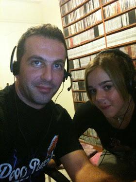 ....με την Κατερινα στο studio...
