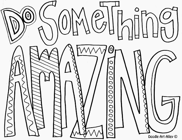 Inspirational Quotes as Coloring Pages