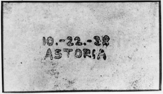 Primera copia hecha con éxito por Carlson y su ayudante el 22 de octubre de 1938
