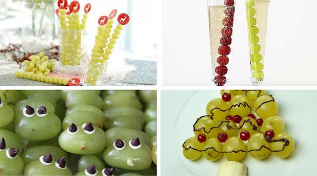 Ideas para presentar las uvas en fin de año