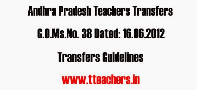 GO.38 AP Teachers Transfers Rules 2012,AP Transfers Counseling Schedule,Norms,teachers transfers Rules and Guidelines, Achievement in SSC Public Exams, Teachers Transfers Online Application, conducting counselling and transfers, transfer orders, Headmasters Gr.II Gazetted, School Assistants and SGTs transfers,SA Transfers