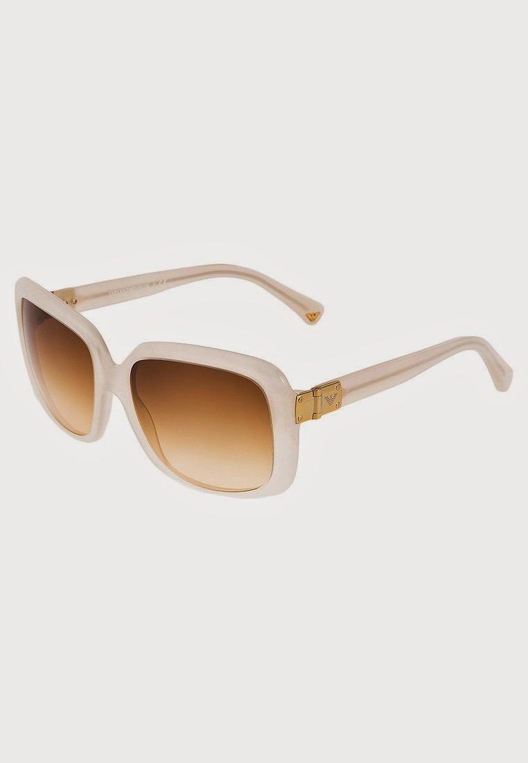 maxi gafas de sol de pasta blanca