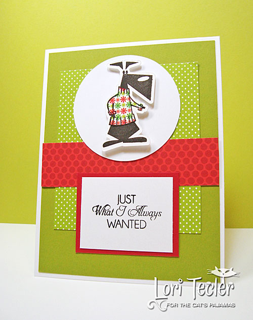 Just What I Always Wanted card-designed by Lori Tecler/Inking Aloud-stamps from The Cat's Pajamas
