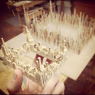 miniatura previa a la obra de madera