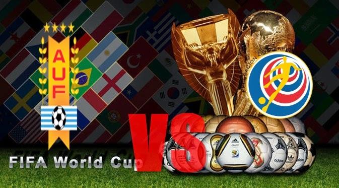 Prediksi Skor PIALA DUNIA 2014 Terjitu Uruguay vs Kosta Rika  jadwal 15 Juni 2014