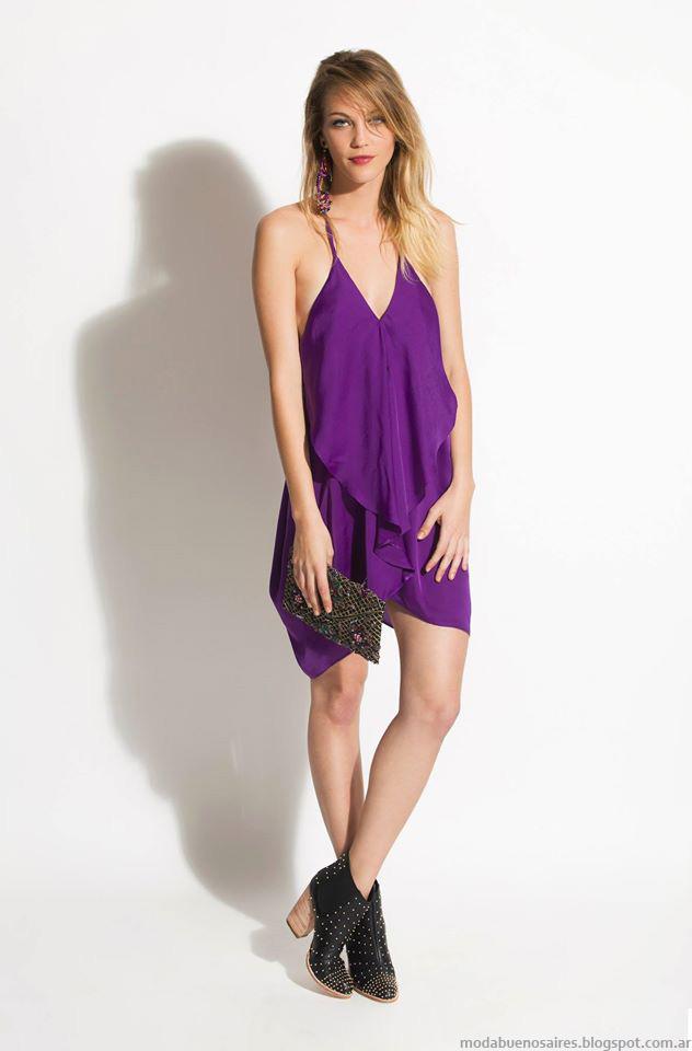 Vestidos cortos estilo casual chic verano 2016 Silvina Ledesma.