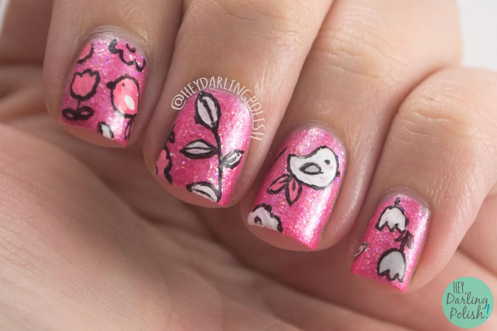 pink, pink lady, cutesy, nails, nail art, nail polish, indie polish, yume lacquer, sailor moon,