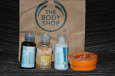 THE BODY SHOP PEDIDO NOVIEMBRE 2012 CON MANTECA DE MANDARINA Y MINITALLAS
