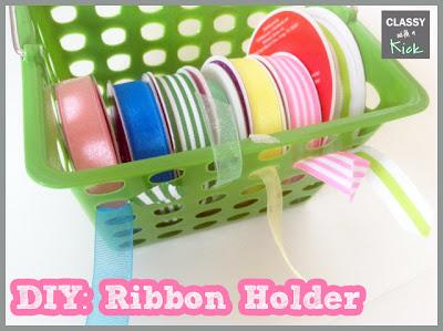 DIY Ribbon Holder Ribbon Organization