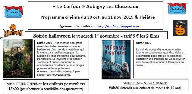 Programme Ciné :  Le Prospectus !